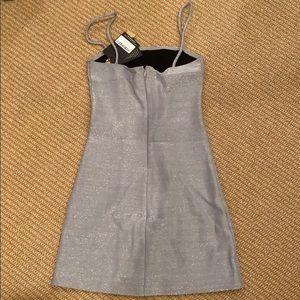 Reformation Dresses - Reformation silver sparkle spaghetti slip dress